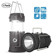 Solar/USB Rechargeable Camping Lantern Led, Collapsible Lantern Flashlig... - $14.10