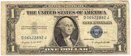 1935 D SILVER CERTIFICATE $1 DOLLAR D06422892J PRINTING ERROR - $9.90