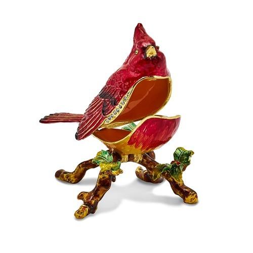 Bejeweled Cardinal Charlie Trinket Box