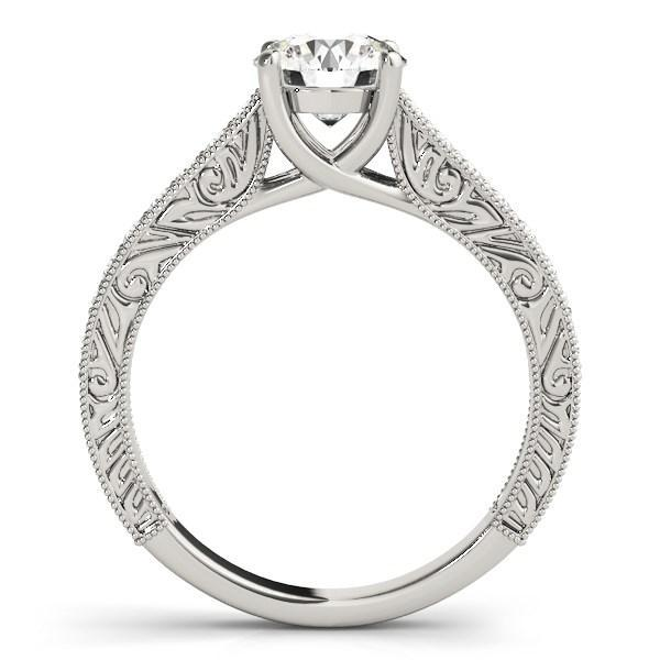 14k White Gold Trellis Antique Style Diamond Engagement Ring (1 1/4 cttw)