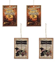 Bethany Lowe Halloween Tin Ornament Night Before Witches Brew Set/ 4 Dec... - $11.95