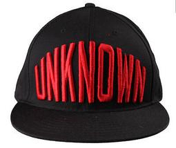 Entree Lifestyle Unknown Black Red O/S Snapback Flat Brim Hat Baseball Cap