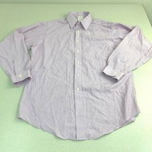 Brooks Brothers Dresss Shirt Mens 16 Purple Traditional Fit Non-Iron Pin... - $18.95