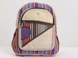 Himalayan Group All Natural Handmade Multi Pocket Pure Hemp Laptop Backpack - $67.27 CAD