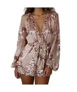 Brand New Australia Stock Sequin Rosegold Pink Playsuit Party Romper - $49.00