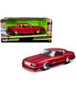 1986 Chevrolet Monte Carlo SS Candy Red Classic Muscle 1/24 Diecast Mode... - $33.34