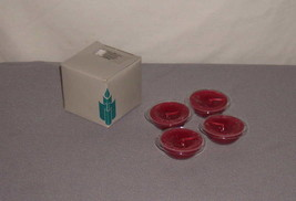 PartyLite Floater Candles N2023P Cranberry Scented Set of 4 - $11.87