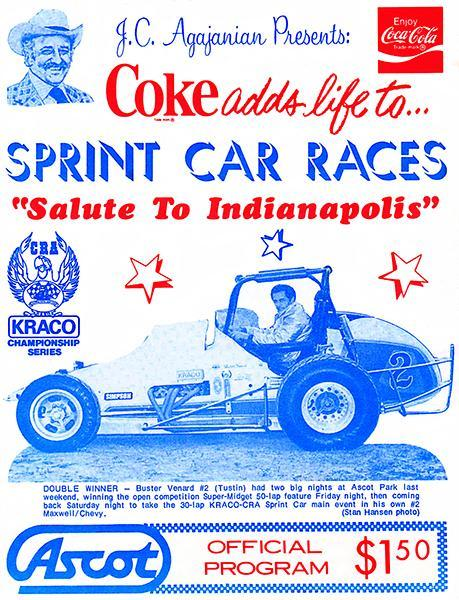 Primary image for 1980 Sprint Car Races - Ascot Park - Program Cover Poster
