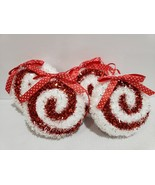 """(4) Christmas Holiday Red White Candy Cane Peppermint Ornaments Decor 4"""" - $21.99"""