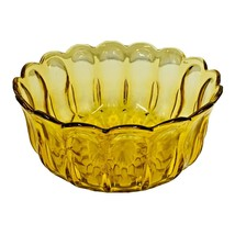 Anchor Hocking Glass FAIRFIELD Amber LG Salad Serving Bowl with Scallop... - $19.59