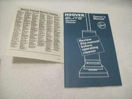 Hoover Elite Vacuum Cleaner Owner's Manual U4457/59/59-940/61-9/63-9/69/... - $10.00