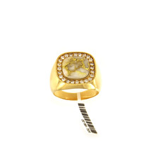 14k Yellow Gold Ring with Quartz & Diamonds  - $3,270.00