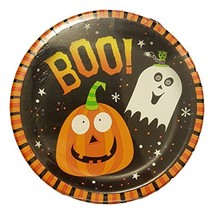 Party Creations Halloween Boo Friends Pumpkin Ghost Plates - 8 Count - $7.49