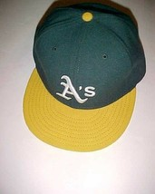 Oakland Athletics Team Logo MLB AL Green Yellow White Adult Unisex Cap 7 3/8 New - $22.76