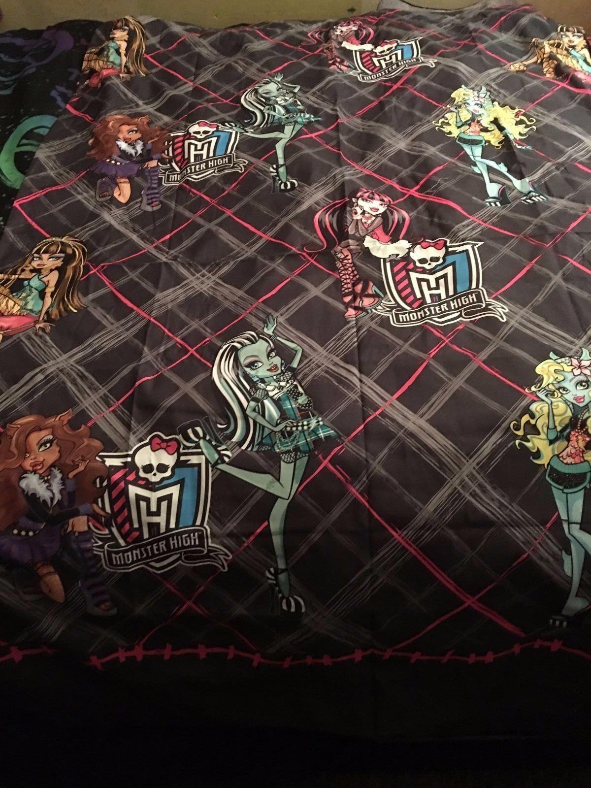 "Monster High Kids Curtain Panel Black 41"" x 63"" Window Curtain ~ Set of 2 Panels"