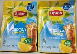 Lipton Iced Tea Lemon Sweetened Tea Mix 2 Pack 4.7 oz Ea A3 - $12.82