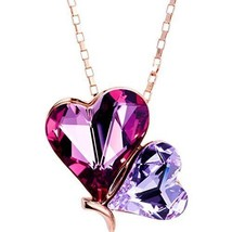 Valentines Day Gift For Her Necklace Pendant Double Heart Girl Girls Jew... - $68.37