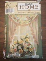 SIMPLICITY HOME # 8697 DESIGN YOUR OWN JABOT & SWAGS SEWING PATTERN - $13.95