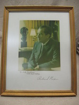 Richard Nixon AUTOPEN Framed Picture Judy Kaufman Staff Assistant to Nixon - $49.95