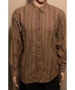 Men's Patagonia Large Long Sleeve Button Front Shirt Brown Organic Cotton - $29.02