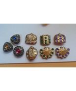 Rhinestone Button Covers Lot of 9 - $22.76