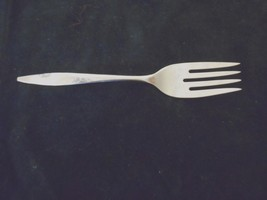 "Oneida  Rose Duet Stainless Steel  Small Salad Dessert Fork  6"" USA - $5.90"