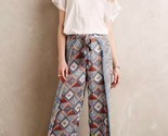 NWT $138 Anthropologie Eleveness Seaflower Wide Leg Pants Size 2 T  TALL