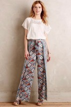 NWT $138 Anthropologie Eleveness Seaflower Wide Leg Pants Size 2 T  TALL - $40.59