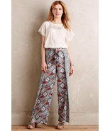 NWT $138 Anthropologie Eleveness Seaflower Wide Leg Pants Size 2 T  TALL - £31.43 GBP