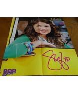 Selena Gomez Jonas Brothers teen magazine poster clipping Kevin Jonas car - $5.00