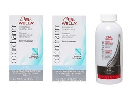 Wella Color Charm Permanent Liquid Hair Toner Bundle (T14+T14+Developer ... - $63.25