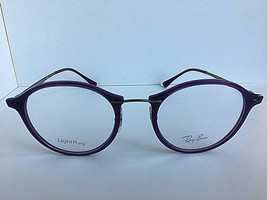 New Ray-Ban RB 7370 1756 LightRay 49mm Rx Round Purple Women's Eyeglasses Frames - $69.99