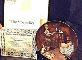 The Storyteller by  Norman Rockwell Plate with Box ( Knowles ) AA20CP2176 image 3