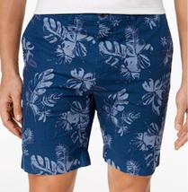 "Tommy Hilfiger Men's 9"" Floral Cotton Shorts, Navy, Size 36 , MSRP $65 - $29.69"