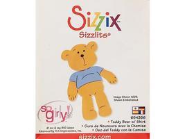 Sizzix-Sizzlits Teddy Bear with Shirt Die #654356 image 1