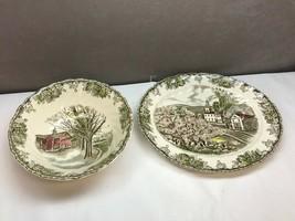 Vintage Johnson Brothers Friendly Village Vegetable Bowl And Serving Platter - $49.49