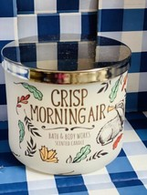 New Bath & Body Works CRISP MORNING AIR  3 Wick Candle BURNS 25-45 Hrs W... - $29.69