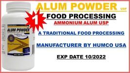 HUMCO ALUM POWDER 6 oz AMMONIUM ALUM USP FOOD GRADE PROCESSING exp 10/20... - $11.95