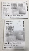 Sharp Aquos LCD Operations Manuals 2CT - $19.75