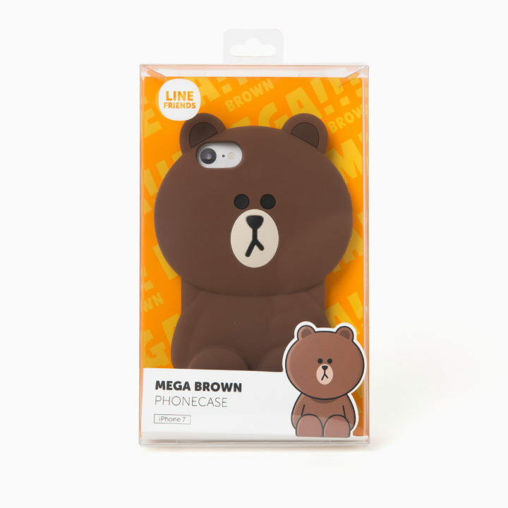 LINE Friends Mega BROWN Silicone Case 7/7Plus iPhone Cover Mobile Skin Character