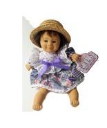 My Pals Bean Bag Kids Doll 8 #10 Girl Doll Asian Farm Girl Straw Hat - $22.49
