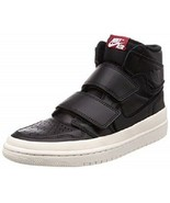NIKE JORDAN 1 RETRO HI DOUBLE STRAP MEN'S BLACK BASKETBALL SNEAKERS, #AQ... - £73.29 GBP