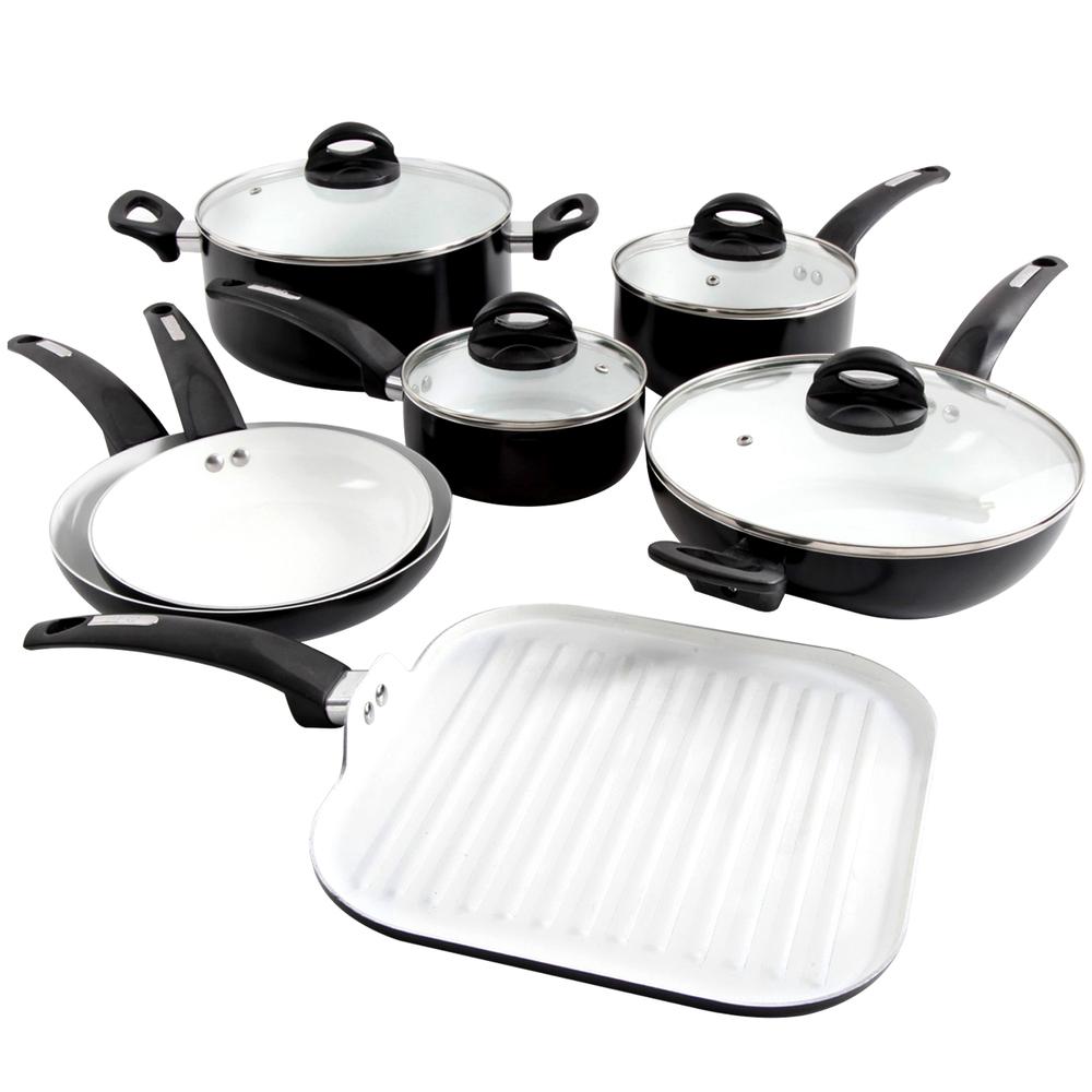 Oster Herstal 11 Piece Aluminum Cookware Set in Black - $154.67