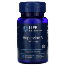 Enhances Memory Huperzine A 200mcg 60 Vegetarian Capsules Non Gmo Life E... - $45.02
