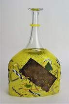 Kosta Boda Glass Satellite Bottle Bertil Vallien Vase Signed - $166.25