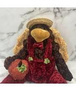 """Dan Dee 27"""" Sitting Turkey Farmer Plush Fall Thanksgiving Straw Hat Pumpkin Soft - $18.66"""