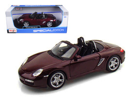 Porsche Boxster S Burgundy 1/18 Diecast Model Car by Maisto - $65.99