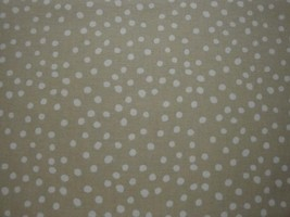 White Polka Dots on Beige Background By Choice Fabrics-By The Yard - $8.95