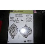 Stampin Up Wooden Stamp Set (new) EMBELLISHED ORNAMENTS (7 stamps) - $28.17