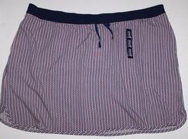 Gap NWT Women XXL Drapey Rayon Navy Blue Geometric Print Skirt w/ Elasti... - $30.77